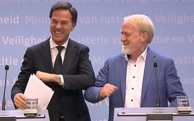 Dutch PM tells public not to shake hands and then…